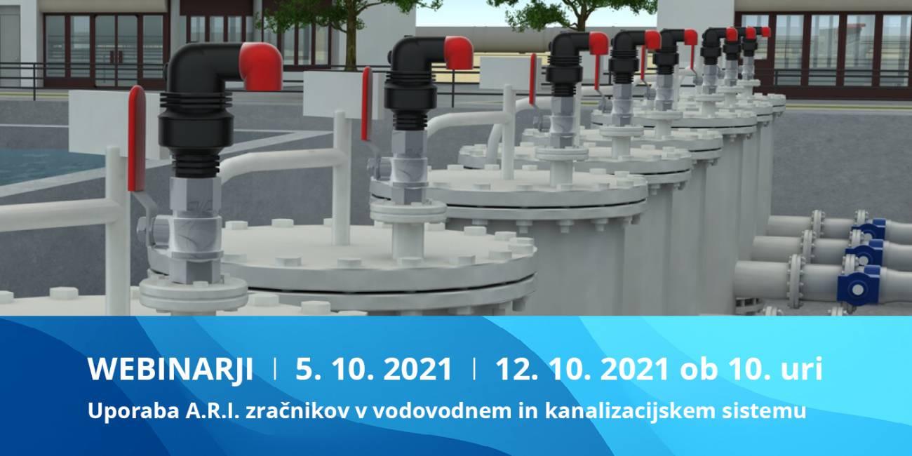 Jesenski webinarji 2021: Uporaba in način delovanjazračnikov A.R.I. v vodovodnem in kanalizacijskem sistemu
