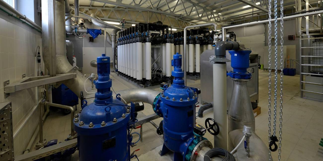 Improved water treatment plant Malni