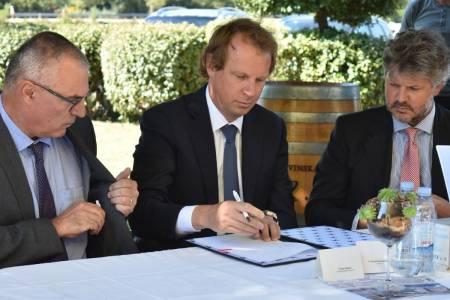 Podpis pogodbe za izgradnjo obvoznice Novi Vinodolski, Hrvaška